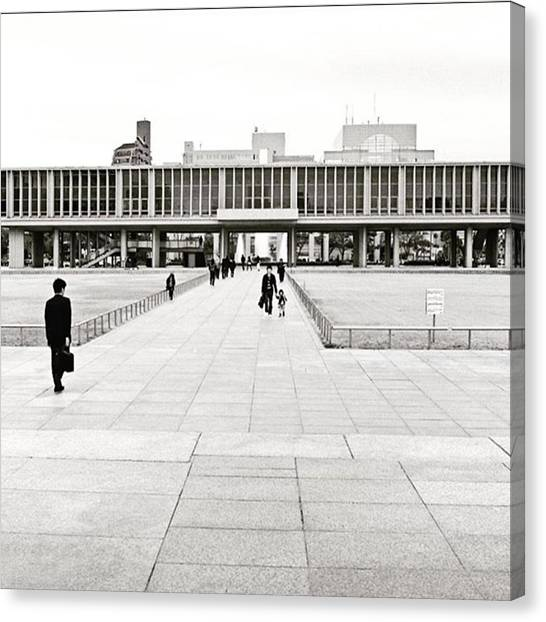 Japanese Canvas Print - The #hiroshimapeacememorialmuseum by Alex Snay