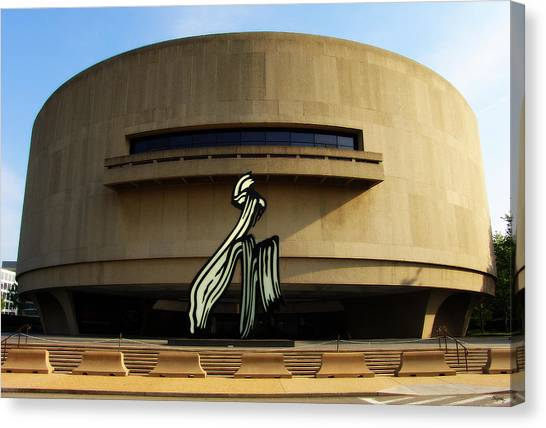 Smithsonian Institute Canvas Print - The Hirschhorn Museum And Sculpture Garden - Washington D. C. by Glenn McCarthy