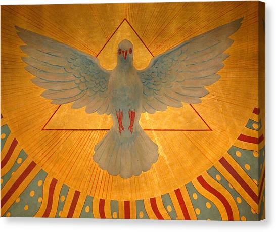 Triangle Canvas Print - The Holy Spirit by American School
