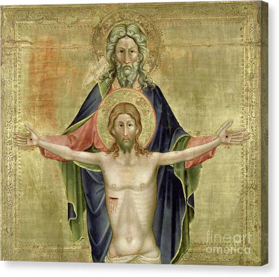 Father And Son Canvas Print - The Holy Trinity by Nicoletto Semitecolo