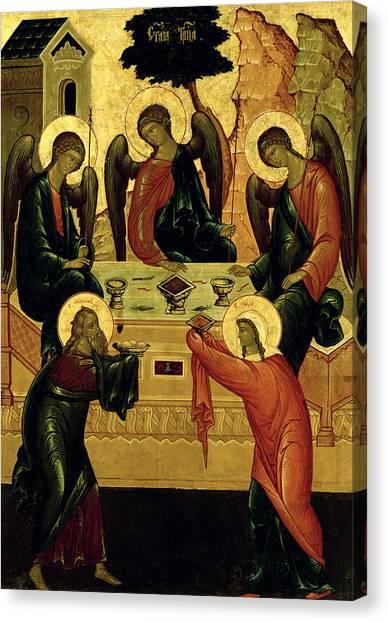 Orthodox Art Canvas Print - The Holy Trinity by Novgorod School