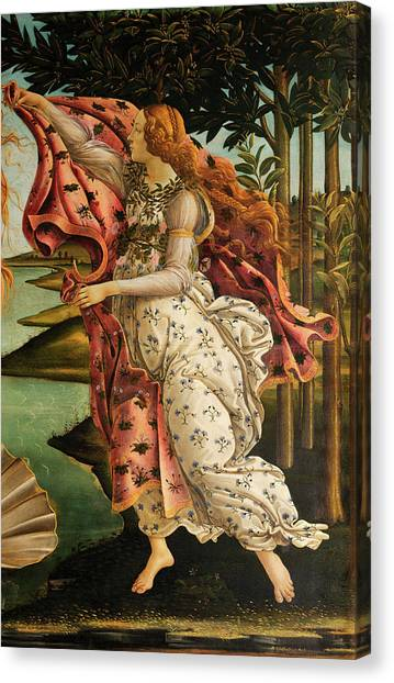 Botticelli Canvas Print - The Hora Of Spring by Sandro Botticelli