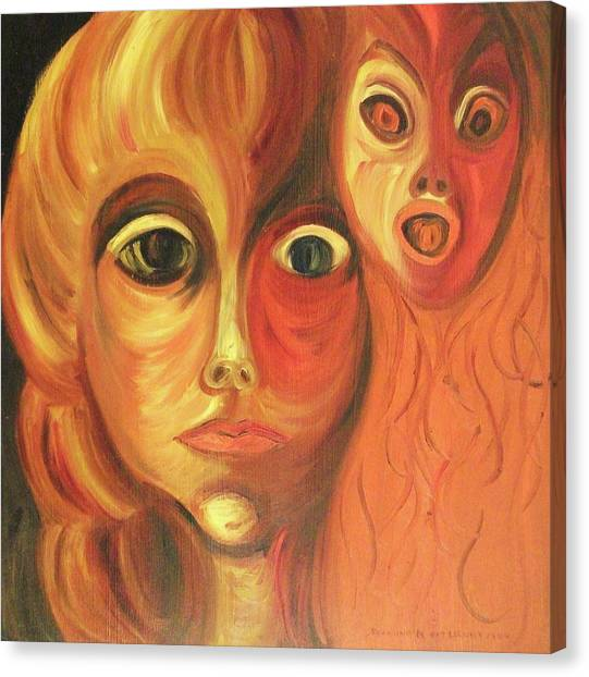 The Horror Of Living Canvas Print by Suzanne  Marie Leclair