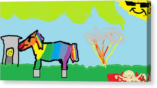 Canvas Print - The Horse And His Journey Fan Requested by Santa Clause