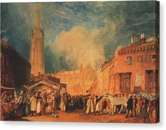 The Horse Fair Canvas Print