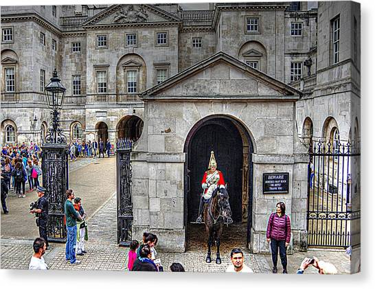 The Horse Guard At Whitehall Canvas Print