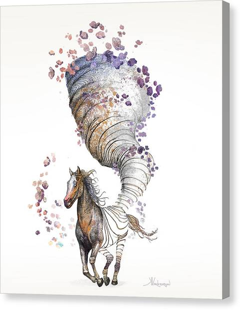 Tornadoes Canvas Print - The Horse by Kristina Vardazaryan