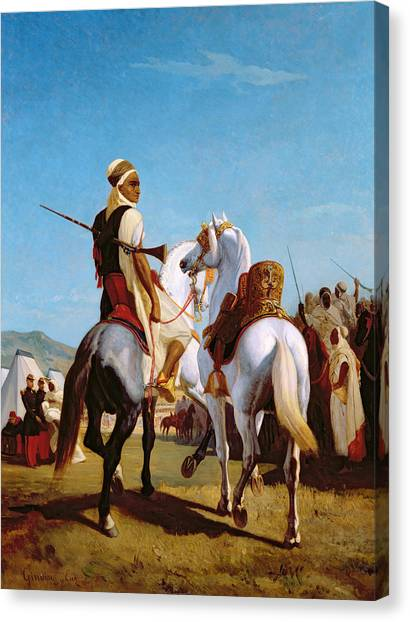 Jihad Canvas Print - The Horse Of Submission by Louis Eugene Ginain