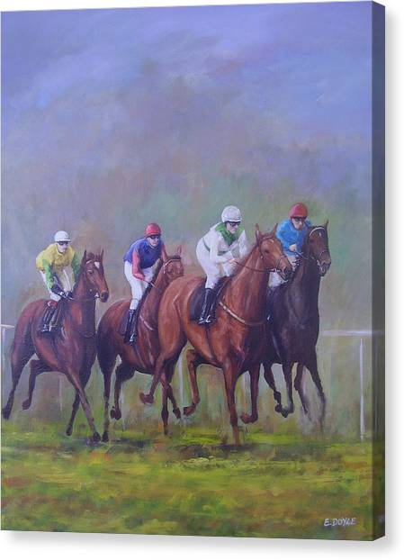 The Horse Race Canvas Print by Eamon Doyle