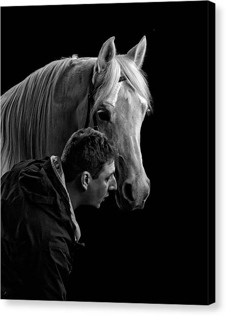 The Horse Whisperer Extraordinaire Canvas Print