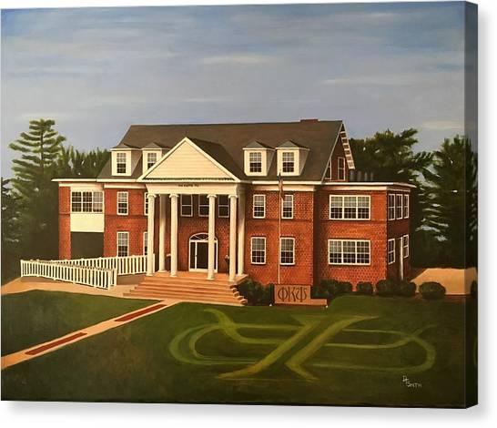 Iowa State University Canvas Print - The House by Daniel Smith