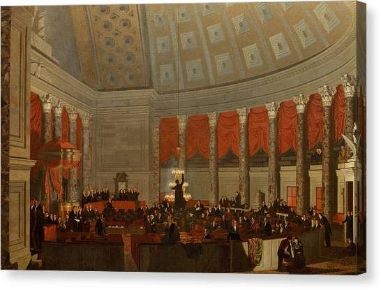 Democratic Politicians Canvas Print - The House Of Representatives by Samuel Finley Breese Morse