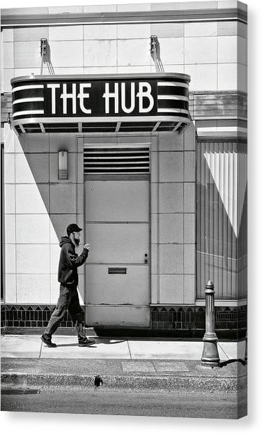 Canvas Print featuring the photograph The Hub by Jon Exley