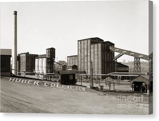 The Huber Colliery Ashley Pennsylvania 1953 Canvas Print