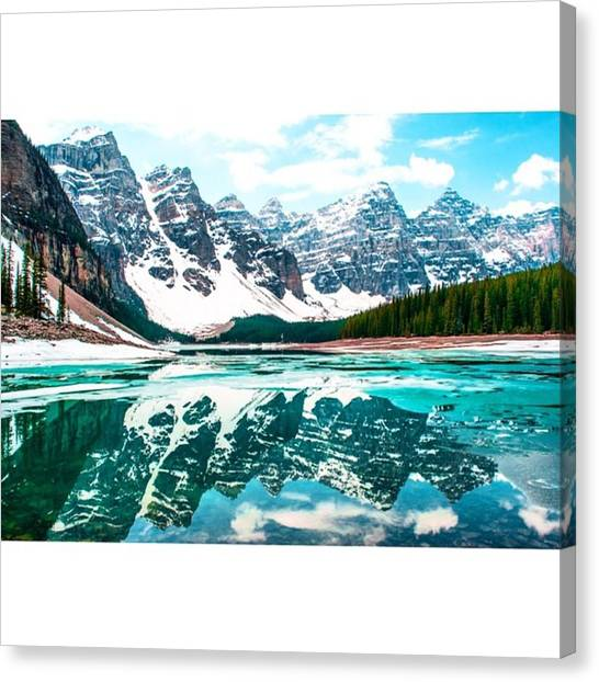 Scotty Canvas Print - The Huge Glaciers Reflecting In Lake by Scotty Brown