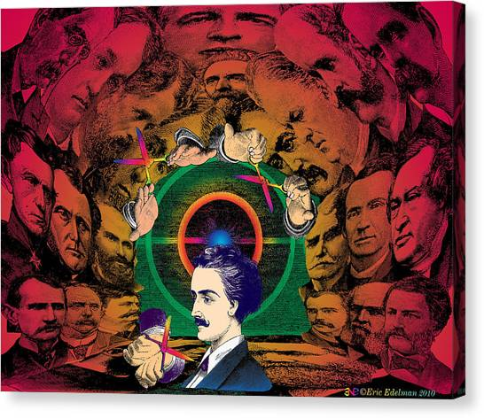 Dada Art Canvas Print - The Human Cave by Eric Edelman