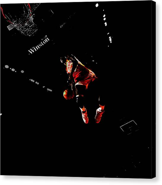 Atlanta Hawks Canvas Print - The Human Highlight Film by Brian Reaves
