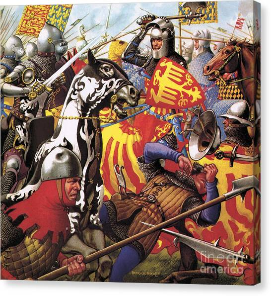 Axes Canvas Print - The Hundred Years War  The Struggle For A Crown by Pat Nicolle