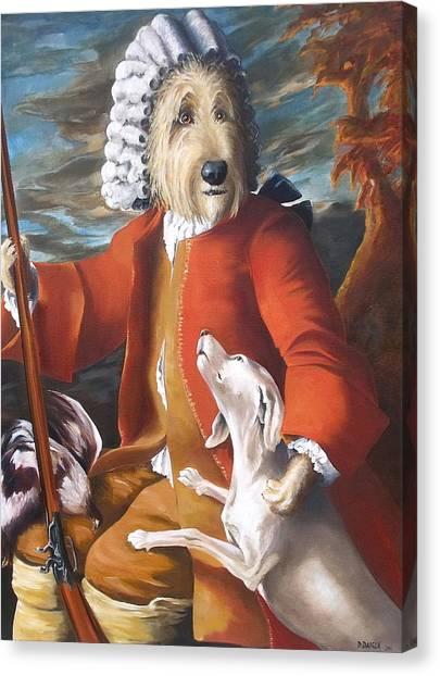 The Hunter And His Loyal Companion Canvas Print