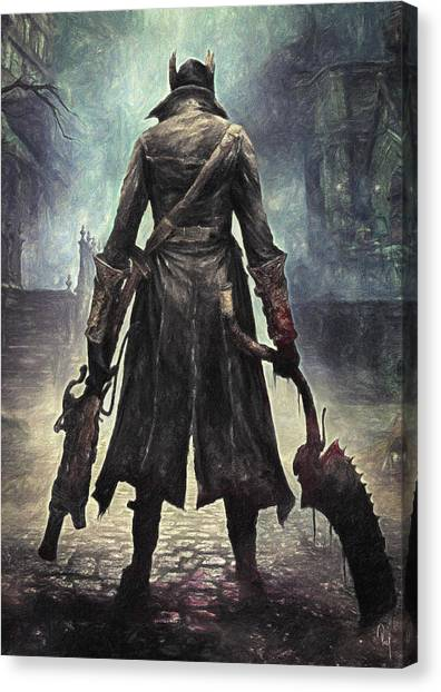 Xbox Canvas Print - The Hunter - Bloodborne by Taylan Soyturk