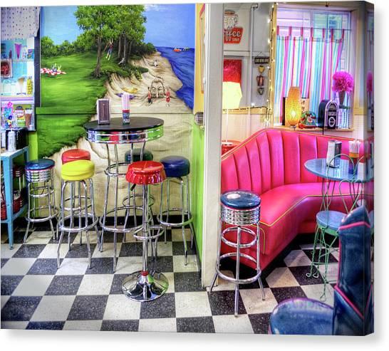 The Ice Cream Shoppe In Duval, Wa Canvas Print