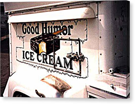 The Ice Cream Truck Is Here Canvas Print