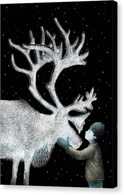 Reindeer Canvas Print - The Ice Garden by Eric Fan