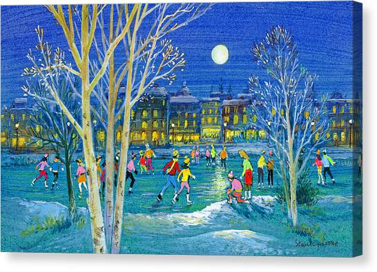 Figure Skating Canvas Print - The Iceskaters by Stanley Cooke