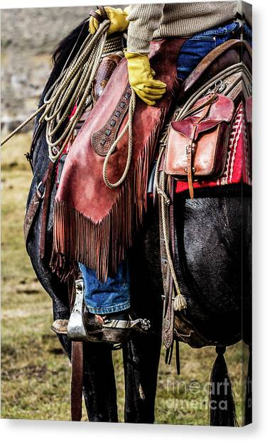 The Idaho Cowboy Western Art By Kaylyn Franks Canvas Print