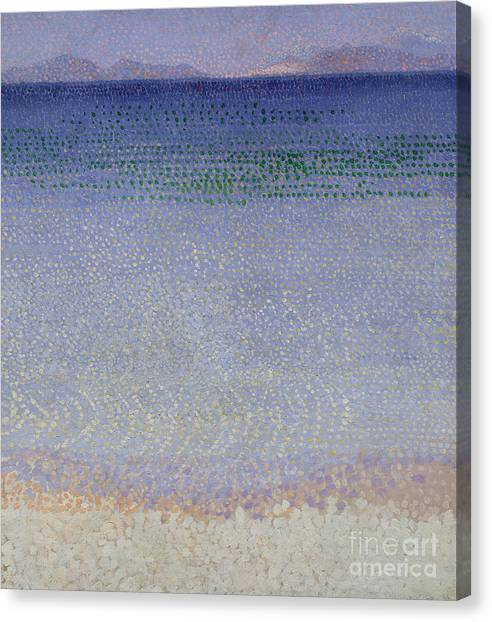 Pointillism Canvas Print - The Iles Dor by Henri Edmond Cross