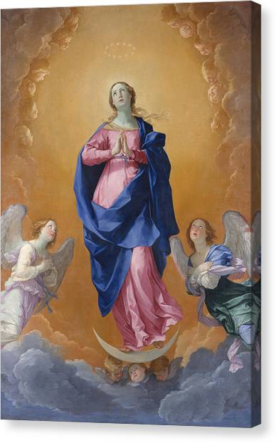 Immaculate Canvas Print - The Immaculate Conceptio by Guido Reni