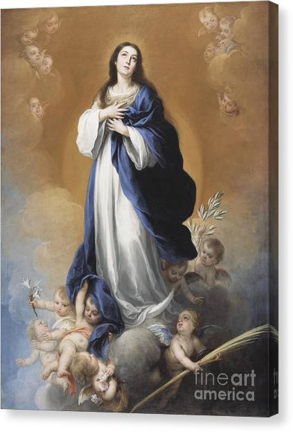 Immaculate Canvas Print - The Immaculate Conception  by Bartolome Esteban Murillo
