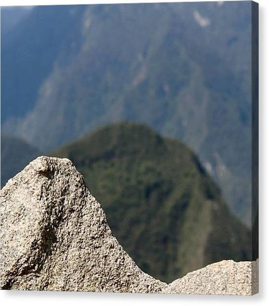 Peruvian Canvas Print - The Incas Carved Out This Rock In The by Christopher Lloyd