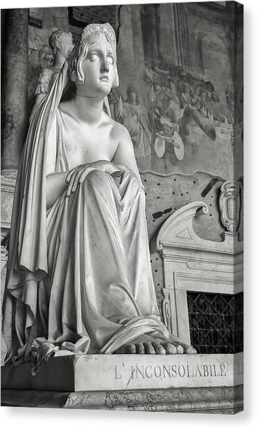 The Inconsolable Statue At Pisa Canvas Print