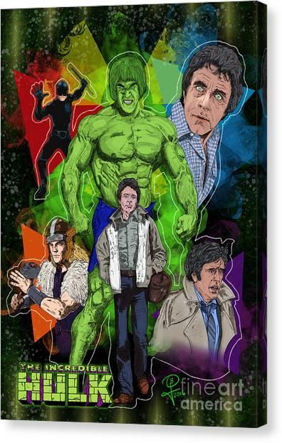 The Incredible Hulk Canvas Print by Joseph Burke