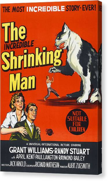 Foreign Ad Art Canvas Print - The Incredible Shrinking Man, Bottom by Everett