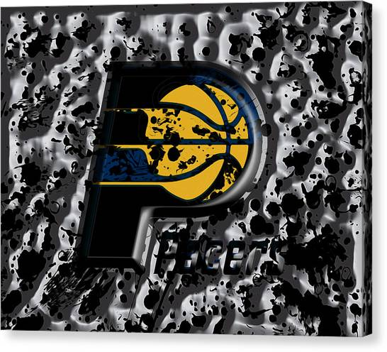 Larry Bird Canvas Print - The Indiana Pacers by Brian Reaves