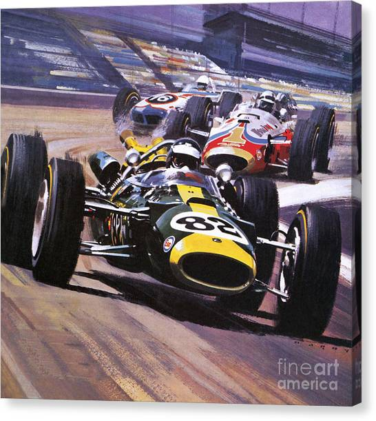 Nascar Canvas Print - The Indianapolis 500 by Wilf Hardy