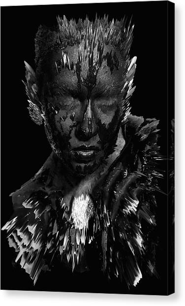 Canvas Print featuring the digital art The Inner Demons Coming Out by ISAW Company