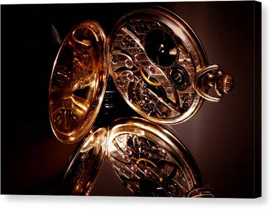 The Inner Working Of Clock Canvas Print