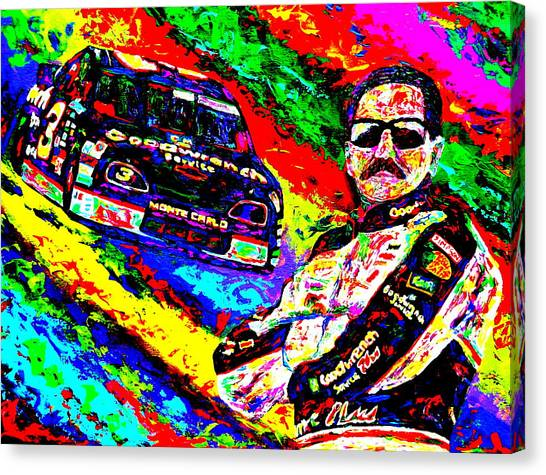 Dale Earnhardt Jr Canvas Print - The Intimidator by Mike OBrien