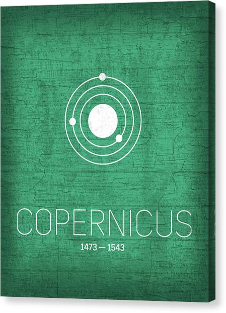 Planet Canvas Print - The Inventors Series 001 Copernicus by Design Turnpike