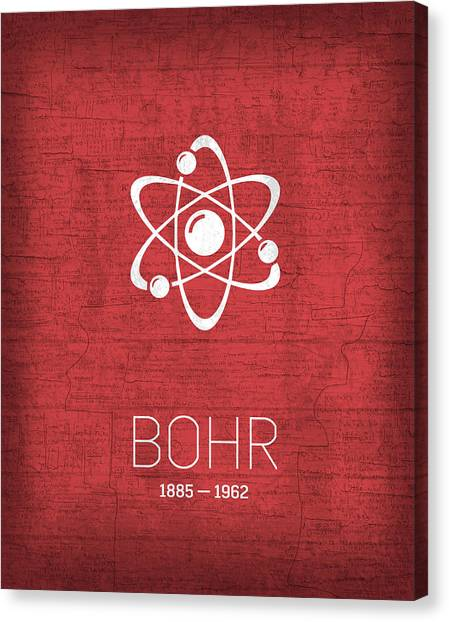 Planet Canvas Print - The Inventors Series 008 Bohr by Design Turnpike