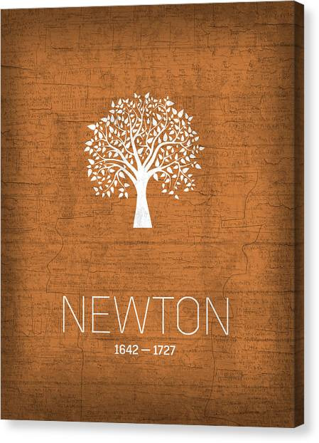 Planet Canvas Print - The Inventors Series 010 Newton by Design Turnpike