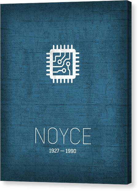 Computer Science Canvas Print - The Inventors Series 029 Noyce by Design Turnpike