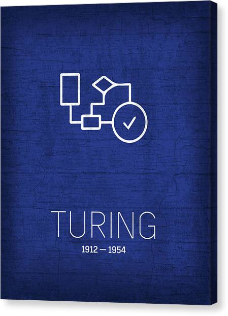 Computer Science Canvas Print - The Inventors Series 030 Alan Turing by Design Turnpike