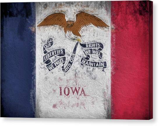 The Iowa Flag Canvas Print by JC Findley
