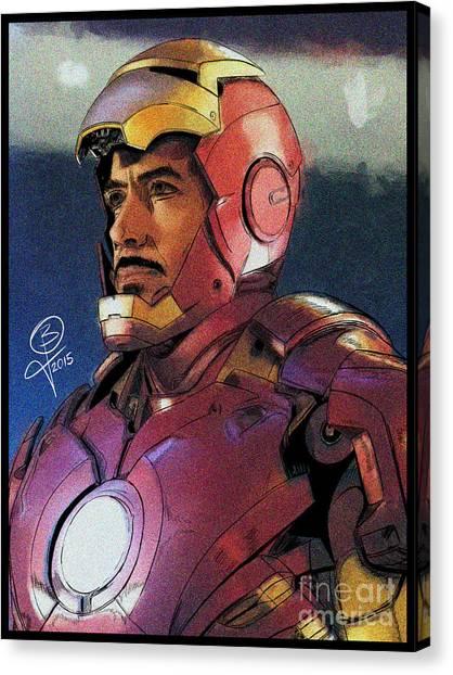 The Iron Avenger Canvas Print by Joseph Burke