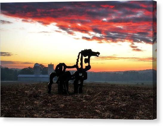 University Of Georgia Canvas Print - The Iron Horse And Friends Art  by Reid Callaway