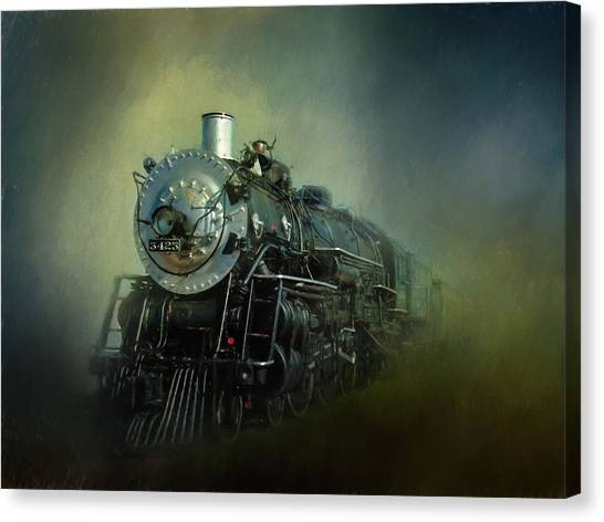 Locomotive Canvas Print - The Iron Horse by David and Carol Kelly